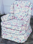 Floral Swivel Chair