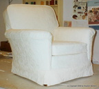 White Living Room Chair