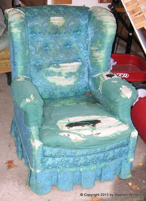 Roth wing chair before