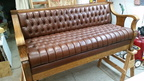 Reding Antique Leather Sofa Bed
